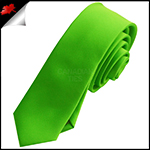 Mens Apple Kelly Green Plain Skinny Tie