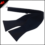 Mens Black Self Tie Bow Tie