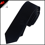Mens Black Skinny Necktie