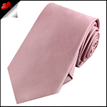 Mens Blush Dusky Pink Rose Plain Necktie