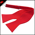 Mens Cherry Red Self Tie Bow Tie