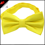 Mens Bright Daffodil Yellow Plain Bow Tie