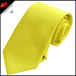 Mens Bright Daffodil Yellow Plain Necktie