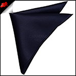 Mens Dark Midnight Blue Pocket Square