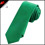 Mens Emerald Green Plain Skinny Necktie