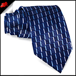 Navy Blue 3D Cubes Mens Necktie