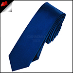 Mens Navy Dark Blue Skinny Necktie