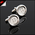 Mens Silver Buttons Cufflinks