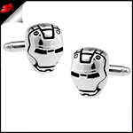 Mens Silver Iron Man Cufflinks