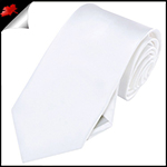 Mens White Necktie