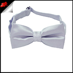 Mid Silver Grey Boys Bow Tie
