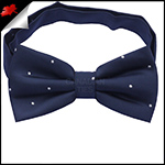 Midnight Blue Pin Dot Mens Bow Tie