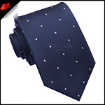Midnight Blue Pin Dot Mens Tie