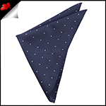 Midnight Blue Pin Dot Pocket Square Handkerchief