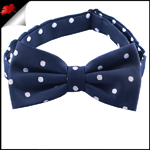 Midnight Blue Polka Dot Mens Bow Tie