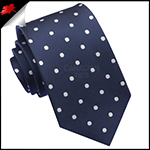 Midnight Blue Polka Dot Mens Tie