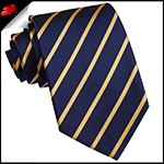 Dark Blue With Gold Thin Stripes Mens Necktie
