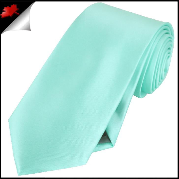Mens light mint green tiffany plain necktie canadian ties - Light blue and mint green ...