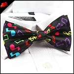 Music Notes Black Bow Tie