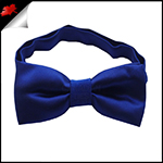 Navy Blue Boys Bow Tie