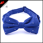 Navy Blue Pin Dot Mens Bow Tie