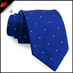 Navy Blue Pin Dot Mens Tie