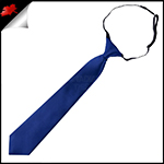 Navy Dark Blue Junior Boys Elasticated Necktie