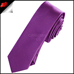 Mens Plum Grape Purple Plain Skinny Tie