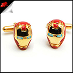 Mens Red Iron Man Cufflinks