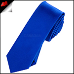 Mens Royal Blue Plain Skinny Necktie