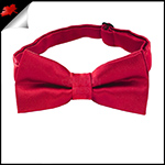 Scarlet Red Boys Bow Tie