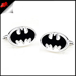 Mens Silver and Black Batman Cufflinks