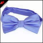 Mens Sky Baby Blue Plain Bow Tie