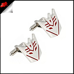 Mens Transformers Red Decepticon Cufflinks