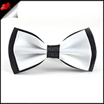 White with Black Back Bow Tie